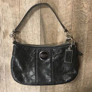 Coach F15141 Grey Leather Demi Shoulder Handbag